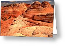 Buttes And Checkerboards Greeting Card