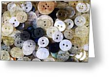 Buttons In Grunge Style Greeting Card