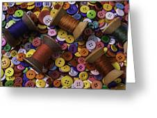 Buttons With Thread Greeting Card