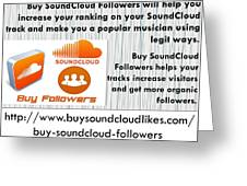 Buy Soundcloud Followers For Audience Attention- Buysoundcloudlikes Greeting Card
