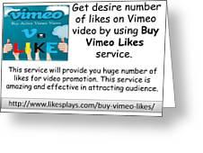 Buy Vimeo Likes Greeting Card