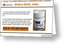 Buy Virbac Nutrich Tablets Online, Delhi, India Greeting Card