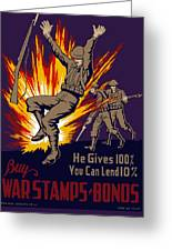 Buy War Stamps And Bonds Greeting Card by War Is Hell Store