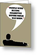 Buying Cigarettes - Mad Men Poster Don Draper Quote Greeting Card