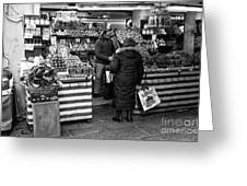 Buying Fruit In Venice Greeting Card