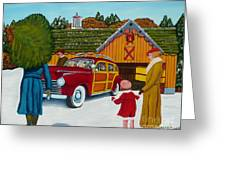 Buying The Tree Greeting Card