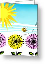 Buzzy As A Bee Greeting Card