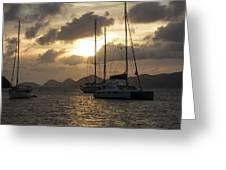Bvi Sailboats Greeting Card