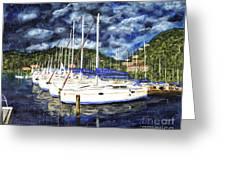 Bvi Sailboats Painting Greeting Card