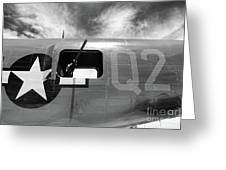 Bw Aircraft Gunner Window Greeting Card