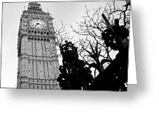 Bw Big Ben London 2 Greeting Card