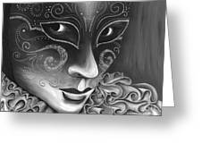 Bw- Carnival Mask Greeting Card