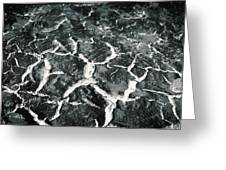 Bw Crackle Greeting Card