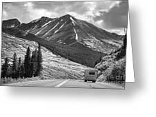 Bw Mobile Home Travel Alaska  Greeting Card