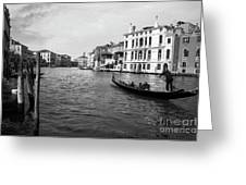 Bw Venice Greeting Card