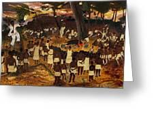 Bwa Kayiman Haiti 1791 Greeting Card by Nicole Jean-Louis