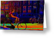 By Bicycle Amsterdam Greeting Card