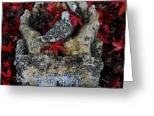By His Hands Greeting Card