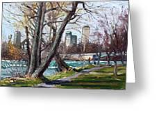 By Niagara River Greeting Card