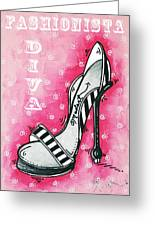 By Pink Design By Madart Greeting Card