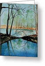 By River's Edge Greeting Card