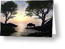 By Sunset Light Greeting Card