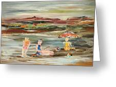 By The Beach Greeting Card
