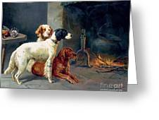 By The Fire Greeting Card