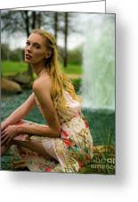 By The Fountain Greeting Card