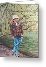 By The Lake - Self Portrait Greeting Card