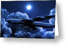 By The Light Of The Blue Moon Greeting Card