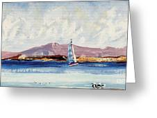 By The Lighthouse Greeting Card