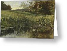 By The Riverbank, 1869 Greeting Card