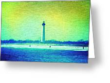 By The Sea - Cape May Lighthouse Greeting Card