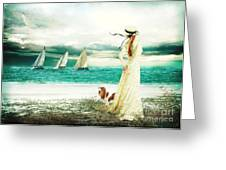 By The Sea Greeting Card by Shanina Conway