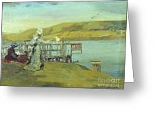 By The Sea Swanage Greeting Card