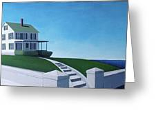 A House By The Sea Greeting Card