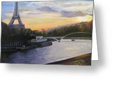 By The Seine Greeting Card