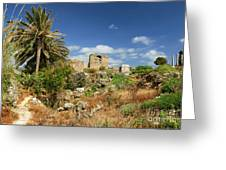 Byblos Castle, Lebanon Greeting Card