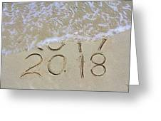 Bye Bye 2017 Welcome2018 Greeting Card