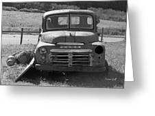Bygone Dodge In Black And White Greeting Card