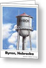 Byron Water Tower Poster Greeting Card