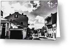 Bywater In Black And White Greeting Card