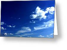 Byzantine Blue Skies With Clouds Greeting Card