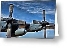 C-130 Hdr Greeting Card