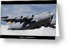 C-17 Globemaster IIi Poster Greeting Card