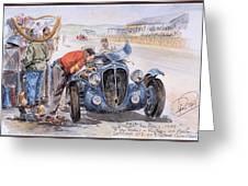c 1949 the delahaye 135 s driven by giraud and gabantous Roy Rob Greeting Card