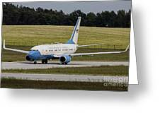 C-40 Clipper Taxiing At Dresden Greeting Card