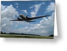 C-47 Dakota Low Pass Over Jekyll Island Airport. 2015 Greeting Card