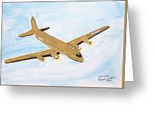 C-54 Warplane Greeting Card